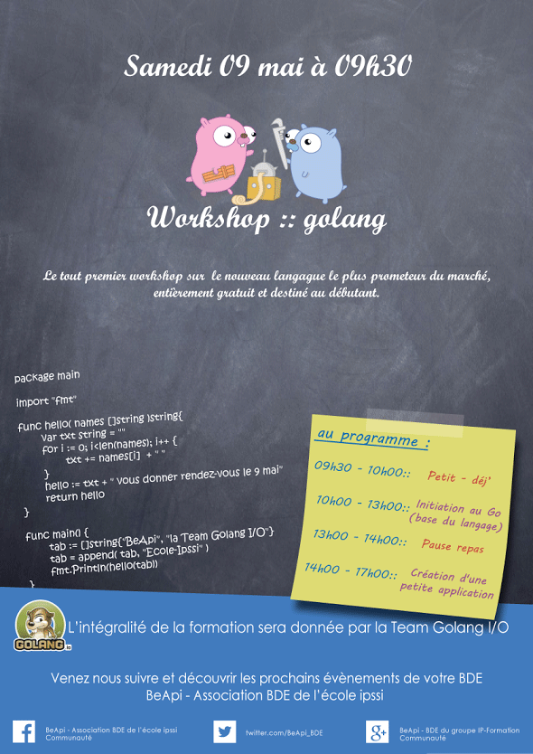 Workshop Golang I/O